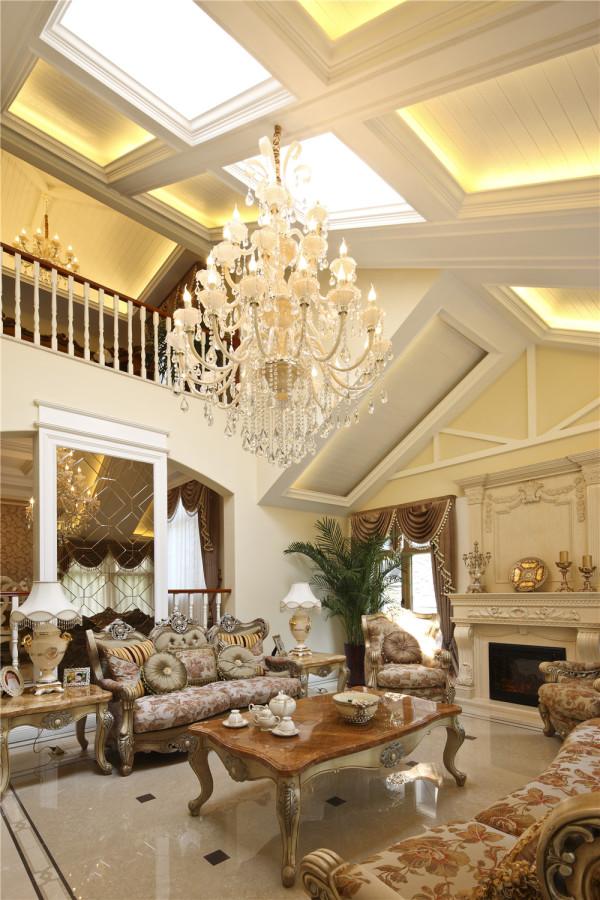 欧式尚层装饰别墅装修客厅装修效果图片 装修美图 新浪装修家居网看