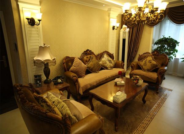 欧式二居西宁实创装欧式装修奢华欧式客厅装修效果图片 装