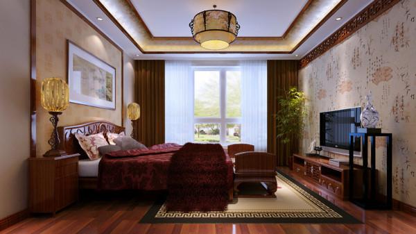 别墅简约中式稳重高端别墅装修别墅设计卧室