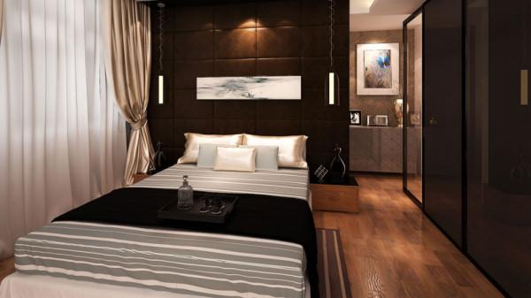蓝山郡别墅后现代风格高度国际装饰设计卧室装修效果图片 装修美图