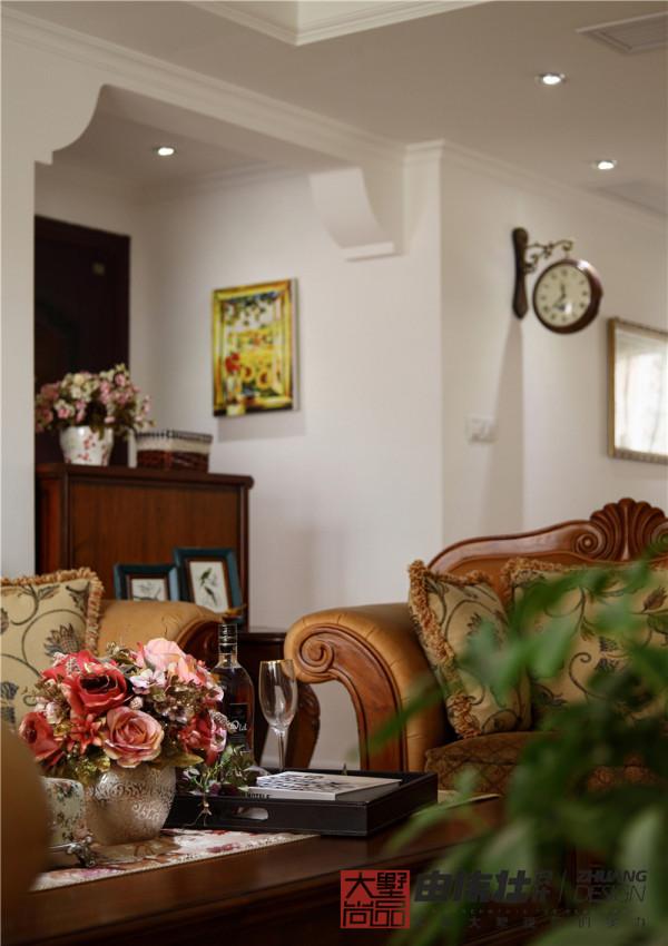 美式乡村三居客厅装修效果图片 装修美图 新浪装修家居网看图装修