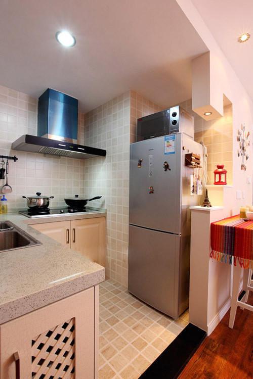 小户型设计婚房设计现代简约开放式厨房厨房装修效果图片