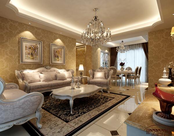 简约欧式三居白领实创装饰客厅装修效果图片 装修美图 新浪装修家居
