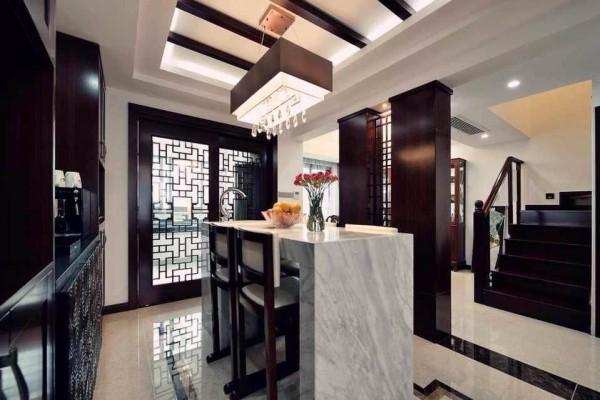 新中式复式白领80后小资厨房装修效果图片 装修美图 新浪