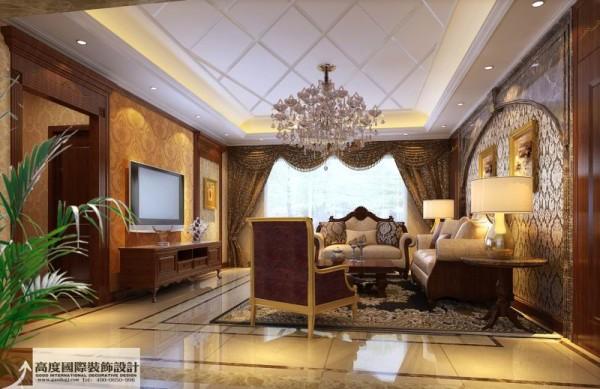 欧式奢华别墅白领80后小资客厅装修效果图片 装修美图 新