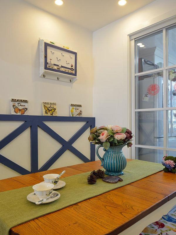 二居地中海83平婚房小清新餐厅装修效果图片 装修美图 新浪装修家居