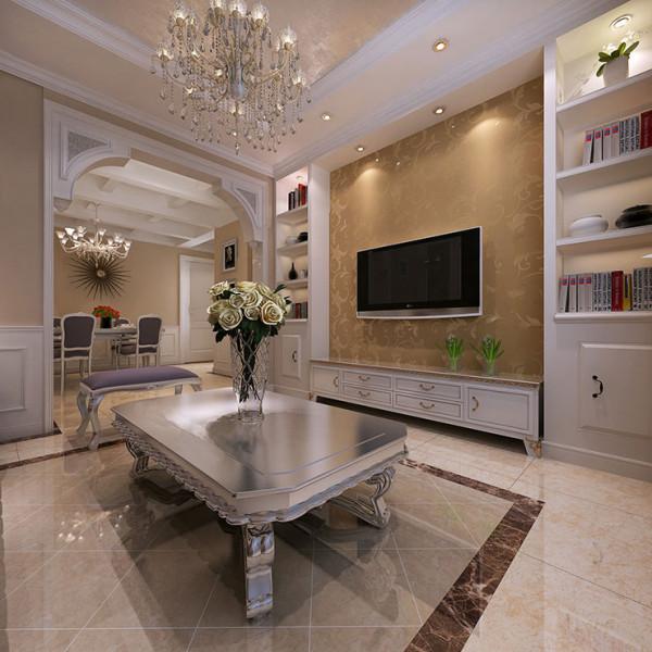 正商新蓝钻90平方二室二厅 简欧风格装修案例
