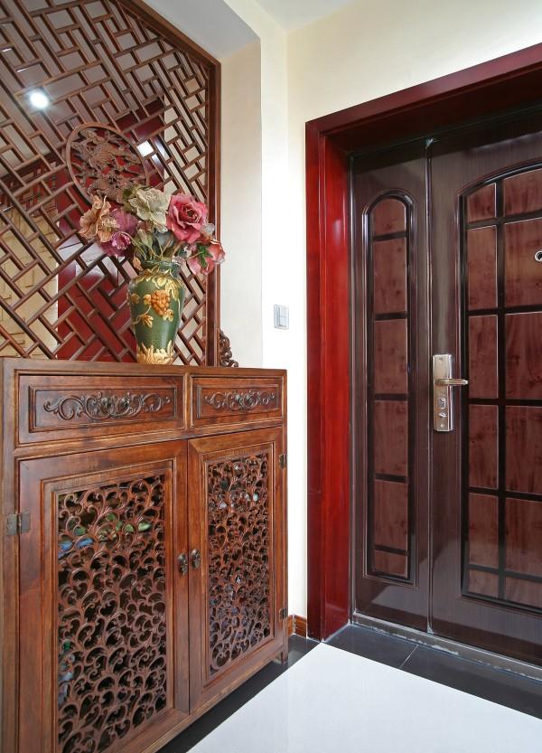 新中式奢华古典别墅80后小资高端玄关装修效果图片 装修美图 新浪装