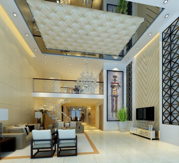 简约酷炫小别墅LOFT客厅装修效果图片 装修美图 新浪装修家居网看图