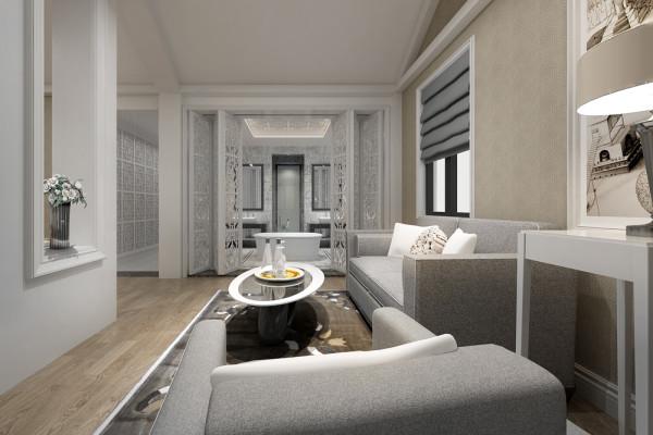 别墅简约自建房干净整洁客厅装修效果图片 装修美图 新浪装修家居网