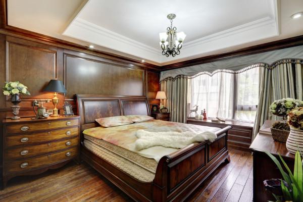 美式乡村高度国际装修设计三居260平米卧室