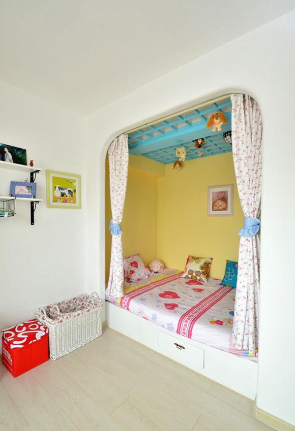 地中海婚房设计实创装饰二居卧室装修效果图片 装修美图 新浪装修家
