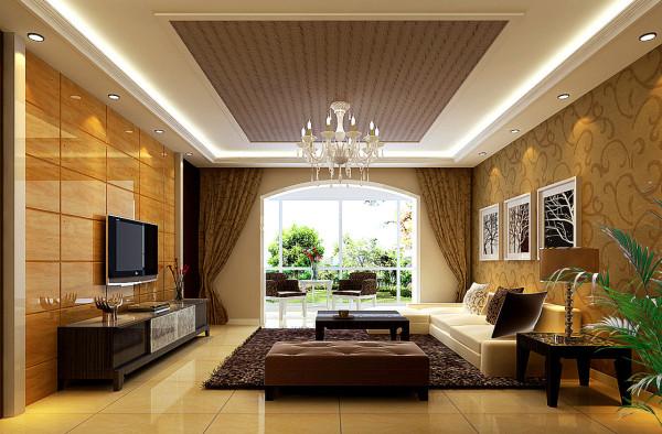 简约欧式三居客厅装修效果图片 装修美图 新浪装修家居网