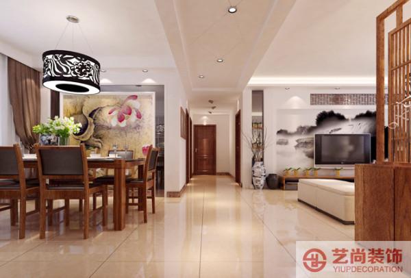 新中式餐厅客厅书房尚书苑装修玄关装修效果图片 装修美