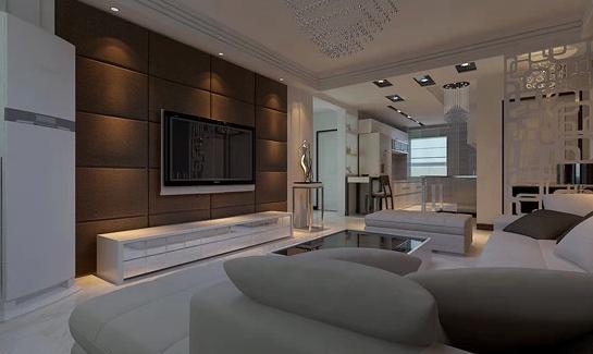 简约欧式田园混搭三居优品天地效果图美式中式客厅装修效果图片 装修