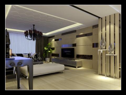欧式田园混搭简约复式沈阳装修室内设计效果图客厅