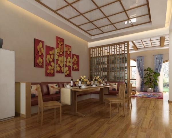 简约中式别墅装修餐厅装修效果图片 装修美图 新浪装修家居网看图装修