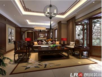南湖国际148平中式风格