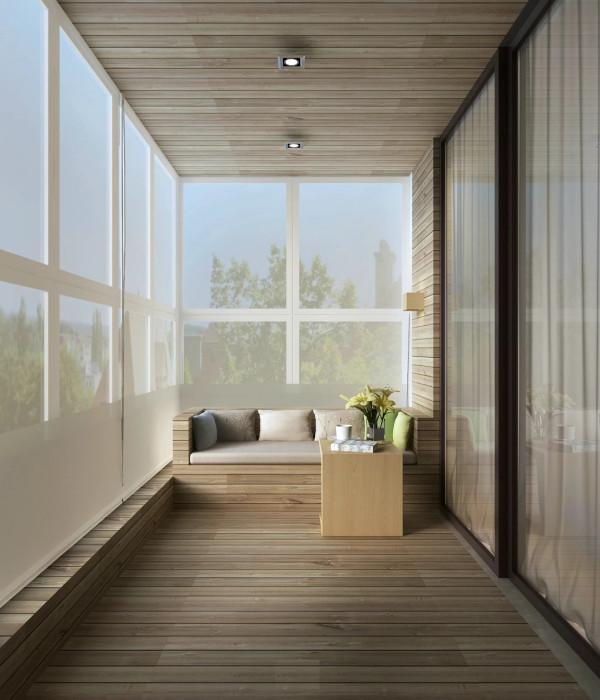 简约现代今朝装饰老房装修原木色三居阳台
