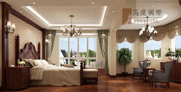 美式风格电梯公寓装卧室装修效果图片 装修美图 新浪装修家居网看图