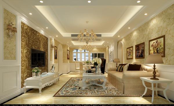 欧式混搭别墅客厅卧室厨房装修效果图片_装修美图-网