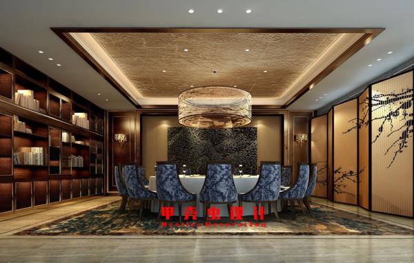 新中式风格饭店设计之豪华包厢装修效果图高清图片