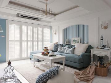 123㎡温馨地中海风格三居室