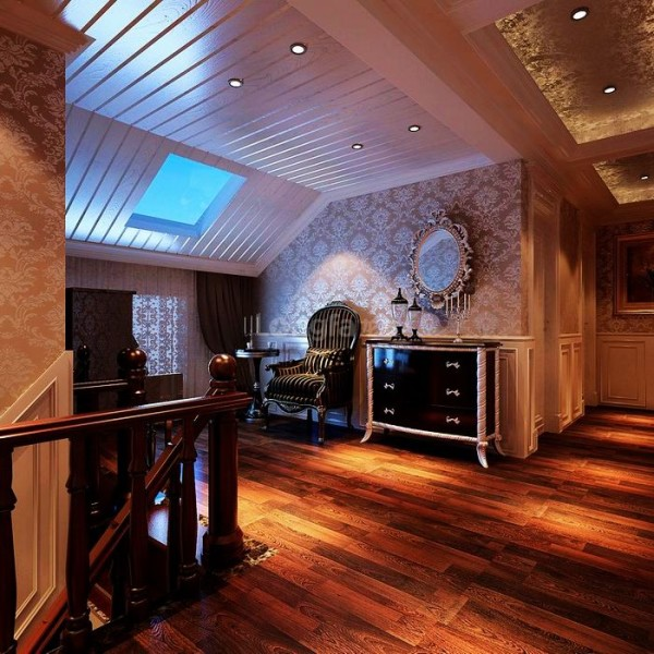 欧式时尚复式楼曲江6号龙发装饰装修设计楼梯装修效果图片 装修美图