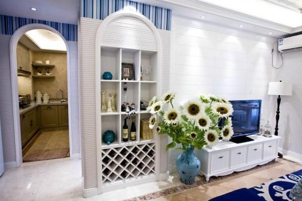 简约欧式田园混搭二居收纳白领80后小资客厅装修效果图片