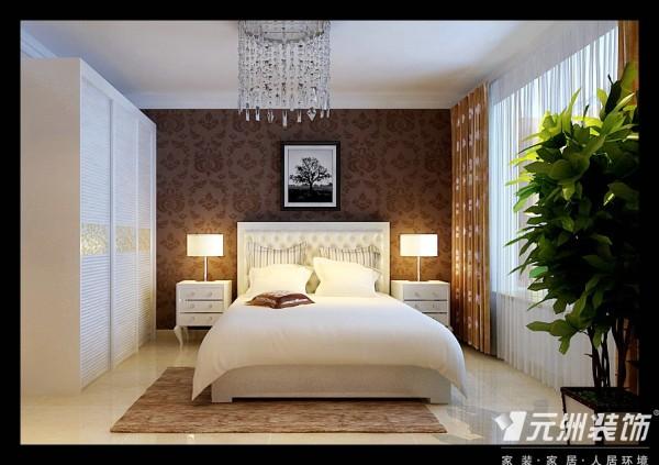 现代简约风元洲装饰天海誉天下装修效果图80后三居卧室装修效果图片