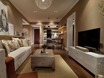 116平现代咖啡色温情3居室
