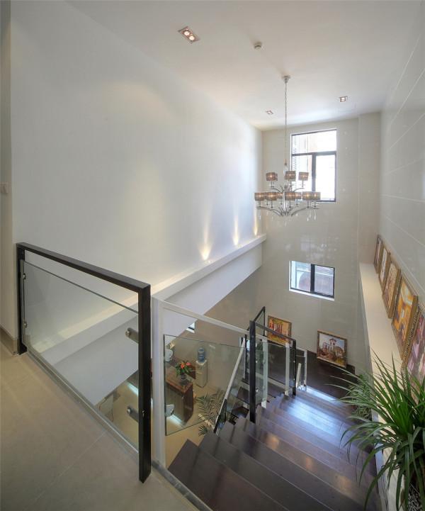 售楼处装修聚通装璜实景展示现代风格楼梯装修效果图片 装
