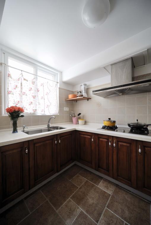 简约欧式田园混搭别墅白领80后小资厨房装修效果图片 装修