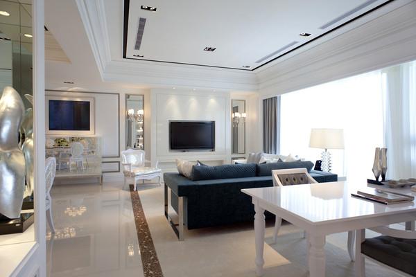 简约欧式三居客厅装修效果图片 装修美图 新浪装修家居网看图装修