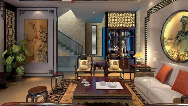 东易家庭装修室内装修高度国际尚层商务会所效果图欧式田园客厅装修
