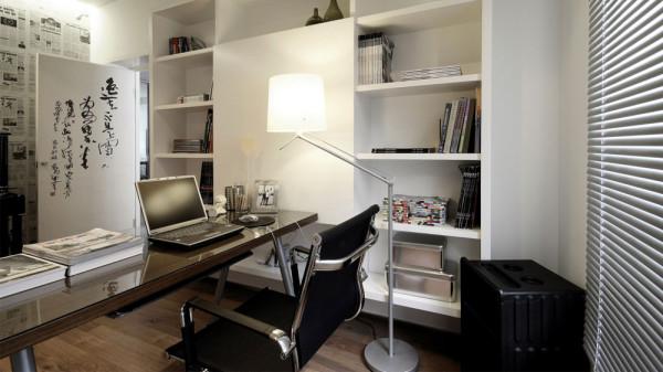 东易家庭装修室内装修高度国际尚层田园欧式简约三居书房高清图片