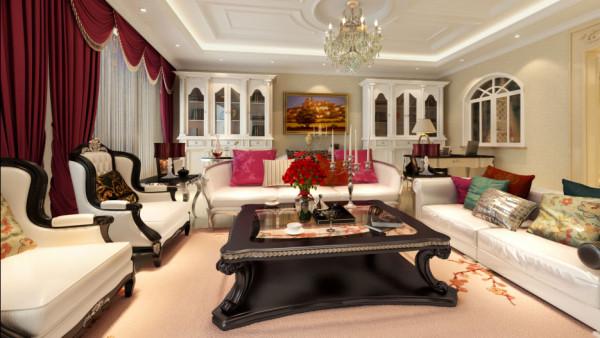 东易家庭装修室内装修高度国际尚层欧式别墅收纳白领客厅装修效果图