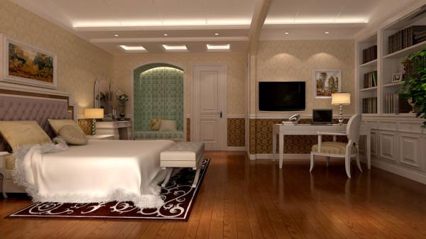 家庭装修室内装修高度国际尚层东易别墅田园美式乡村效果图大全卧室