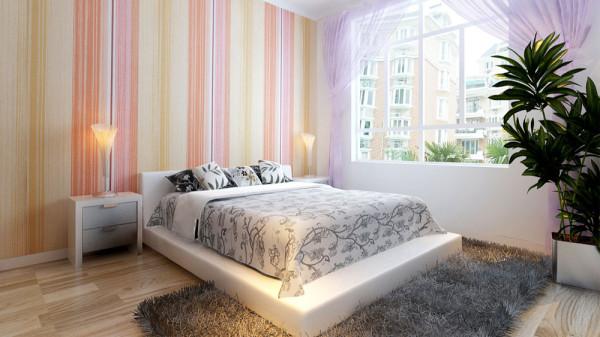 家庭装修室内装修高度国际尚层东易二居简约欧式田园卧室高清图片