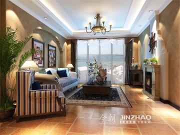 方庄南路125平地中海设计