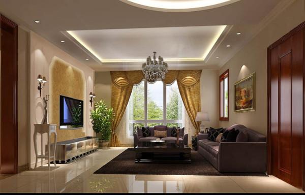 雅收纳白领别墅田园混搭客厅装修效果图片 装修美图 新浪装修家居网
