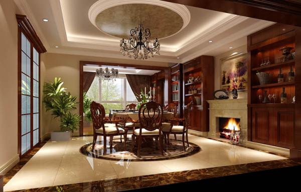 旭辉御府北京装修效果图大全别墅装修欧式风格三居混搭欧式80后餐厅高清图片