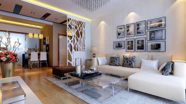 简约欧式田园混搭二居白领80后小资收纳客厅装修效果图片 装修美图