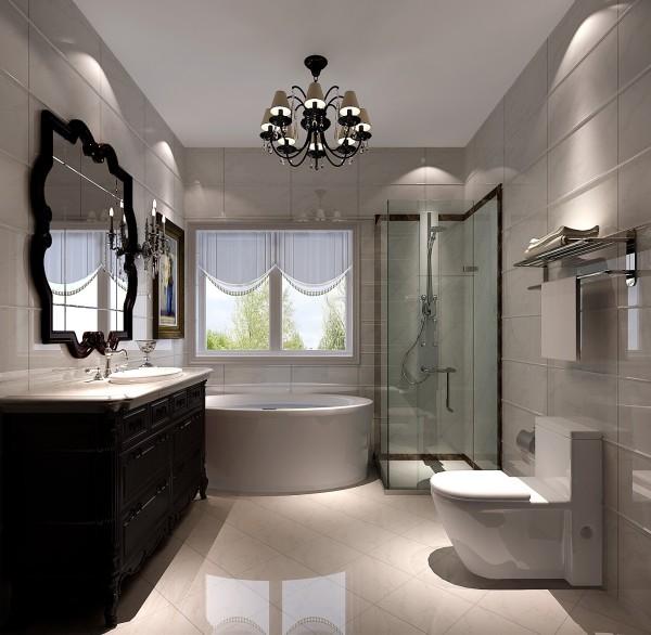 简约欧式复式卫生间装修效果图片 装修美图 新浪装修家居