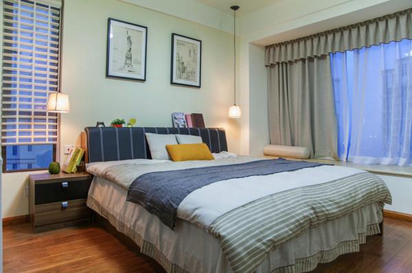 简约混搭收纳原木生态家装设计卧室装修效果图片 装修美