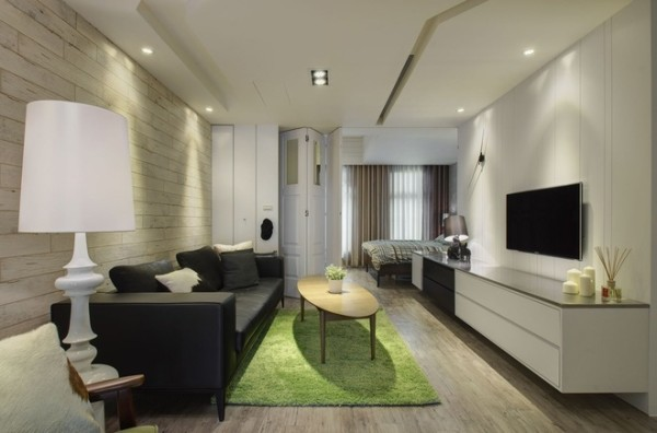 一居小户型装修北欧客厅装修效果图片 装修美图 新浪装修家居网看图