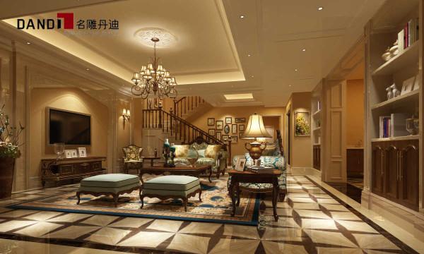 欧式别墅欧式风格别墅装修丹迪别墅欧式奢华装修效果图客厅装