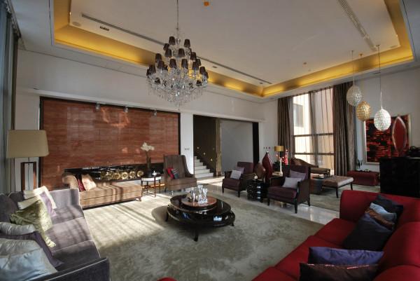 简约欧式别墅小资客厅装修效果图片 装修美图 新浪装修家居网看图装修