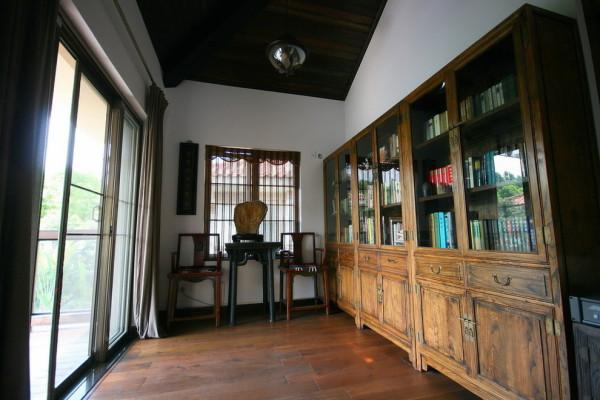 中式别墅装修书房装修效果图片 装修美图 新浪装修家居网