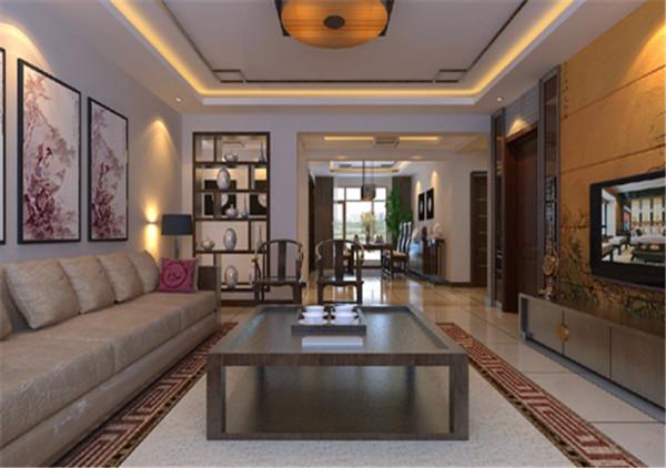 简约中式大户型客厅装修效果图片 装修美图 新浪装修家居